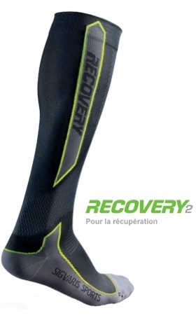 CALCETINES SIGVARIS RECOVERY2 Talla M Color Negro/Verde