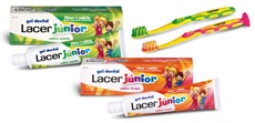 LACER JUNIOR GEL DENTÍFRICO MENTA 75 ml